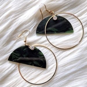 Nwt Marbled Drop Hoop earrings